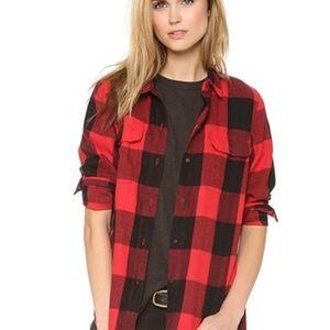 Madewell Buffalo Check Plaid Flannel Shirt